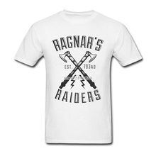 Latest Design Vikings T Shirts Swag Regnar's Axe T-Shirts 100% Cotton Crewneck Plus Size Boy Short Sleeve Custom Tee Shirt