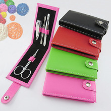 Hot Sale Gift 4 In 1 Kit Nail Clippers Manicure Set Nail Tools Sets PVC And High Carbon Steel 4 Colors Drop Shipping