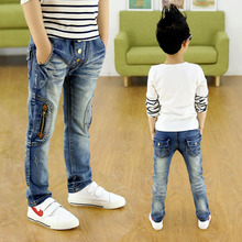 Children zipper jeans, boys pants fit for Spring and autumn baby boys jeans children trousers 3 4 5 6 7 8 9 10 11 12 13 14 years(China)