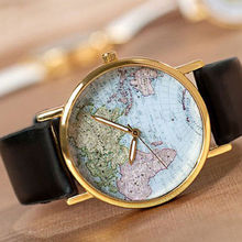 FUNIQUE World Maps Women Watches Creative Pattern Colorful Quartz Wristwatches Fashion Clock For Ladies Female Women Men's Gigts
