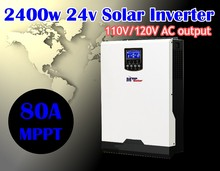 110vac 3kva 2400w Solar Hybrid inverter + 80A mppt solar charger  + battery charger 60A pure sine wave inverter