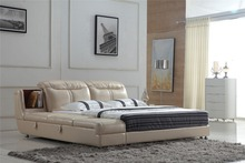 Modern leather bed with storage 0414-809(China)