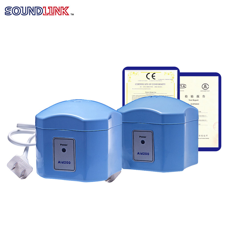 Hearing Aid Dryer Electrical Drying Case Drybox Dehumidifier for BTE IEC CIC Hearing Aids and IEMs