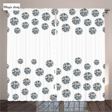 Europe Luxury Curtains Living Room Bedroom Art Decor Collection Circle Cut Diamonds Stylish Gray Whi Curtains Luxury Europe Liv