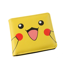 Pikachu Colorful PU Purse W-Anime Pocket Monster Poke Ball Eevee Wallet Type K - CCPRO store