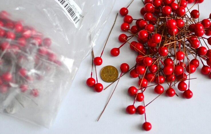 Как сделать красные ягоды своими руками