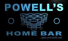 x1085-tm Powell's Home Bar Beer Pong Custom Personalized Name Neon Sign Wholesale Dropshipping On/Off Switch 7 Colors DHL