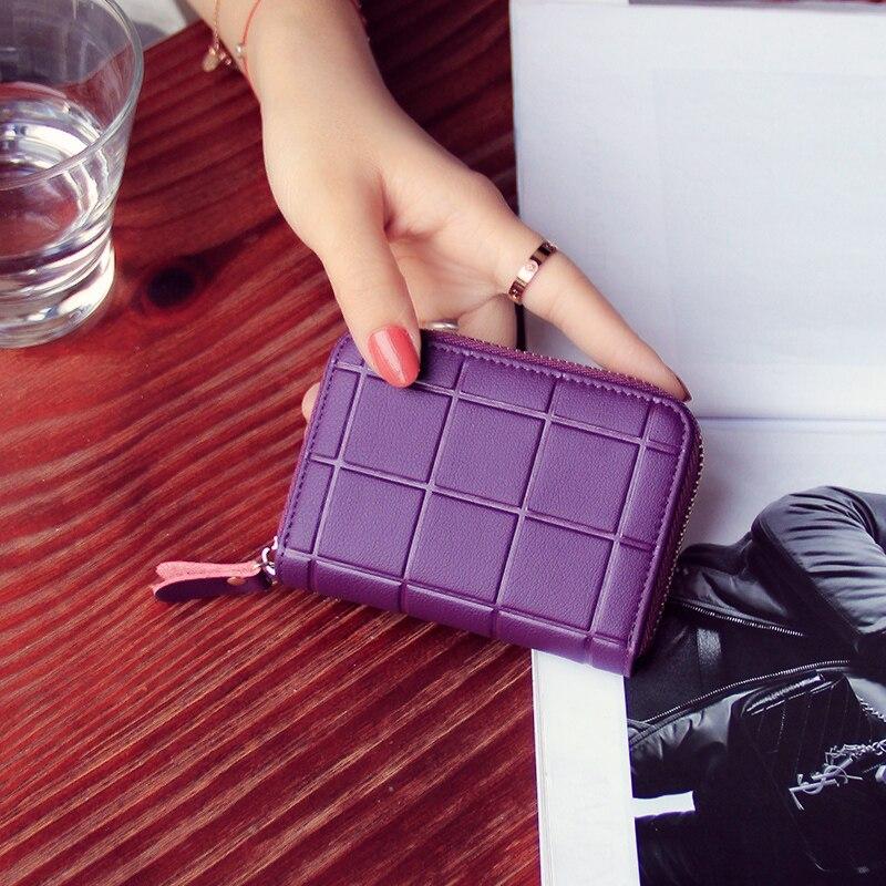 Lattice Shape Surface Money Bag Zipper Small Purse Multi-Card Bit Coin Pocket ,2017 New Short Purple Kawaii Clutch Wallets Women<br><br>Aliexpress