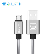 SAUFII 5V2A Micro USB Cable 1m Nylon Braided Wire USB Charger Sync Data Cable for Samsung Galaxy HTC Sony Android cell Phones(China)