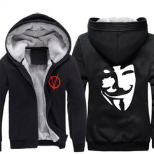 Vendetta  Anonymous Print Cosplay Hoodies Guy Fawkes Cosplay Hooded Jacket  Vendetta Halloween cosplay costume  CS292100