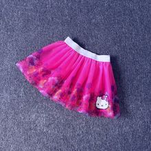 4 6 8 years girls summer tutu skirt kids cartoon hello kitty clothes fashion cute clothing for kids