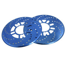 UXCELL 2 Pcs Auto Car Replacement Blue Aluminum Disc Brake Rotor Covers