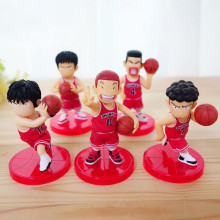 5pcs/set PVC Slamdunk Shohoku Anzai Hanamichi Sakuragi Takenori Akagi Kaede Action Figure Toys, 7cm Slam Dunk Figures Kids Toy(China)