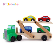 Children Wooden Educational Toys Multifunction Truck Double Transport Best Birthday Gift For Boys