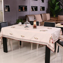 New manteles toalha de mesa Pastoralism Cotton Peony flower embroidery Table Cloth Tablecloth Table Cover High Quality#S711