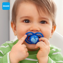 MAM pacifiers for Soothing babies Top Silicone Nipple Dummy Orthodontic  newborn baby soothers from 6+ months on