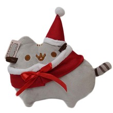 Christmas Cos Santa Claus New Cartoon  & Eevee The Cat Plush Toys Lovely Animal Smile Cat Plush Keyring Doll Kids Gift