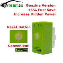 New Brand Power Prog With Reset Button ECOOBD2 Benzine Car Chip Tuning Box Plug And Drive ECO OBD2 Save Fuel For Petrol Cars