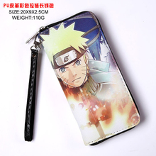 Anime Uzumaki Naruto/Uchiha Sasuke Long Style Wallet Naruto shippuden Colorful Cool PU Purse with Zipper