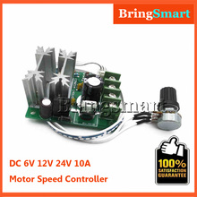 Hot Sales 6V 24V PWM 12V DC Motor Speed Controller 10A Pulse Width Modulator Switch Adjuster Control