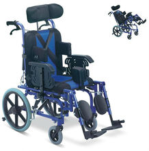 Best sell manual aluminium folding Cerebral Palsy/Reclining/Disabled Wheelchair for disabled people CE,ISO,TUV(China)