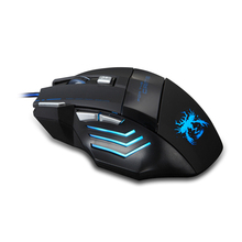 Snigir Brand Release 7 Keys USB Wired laptops computer pc notebook Mice Gaming Mouse Led Light For Dota2 cs go mause para jogos(China)