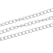 LASPERAL Stainless Steel Chain Necklace Fit Necklace  Bag Chain Accessories For Jewelry Making Supplies 2M