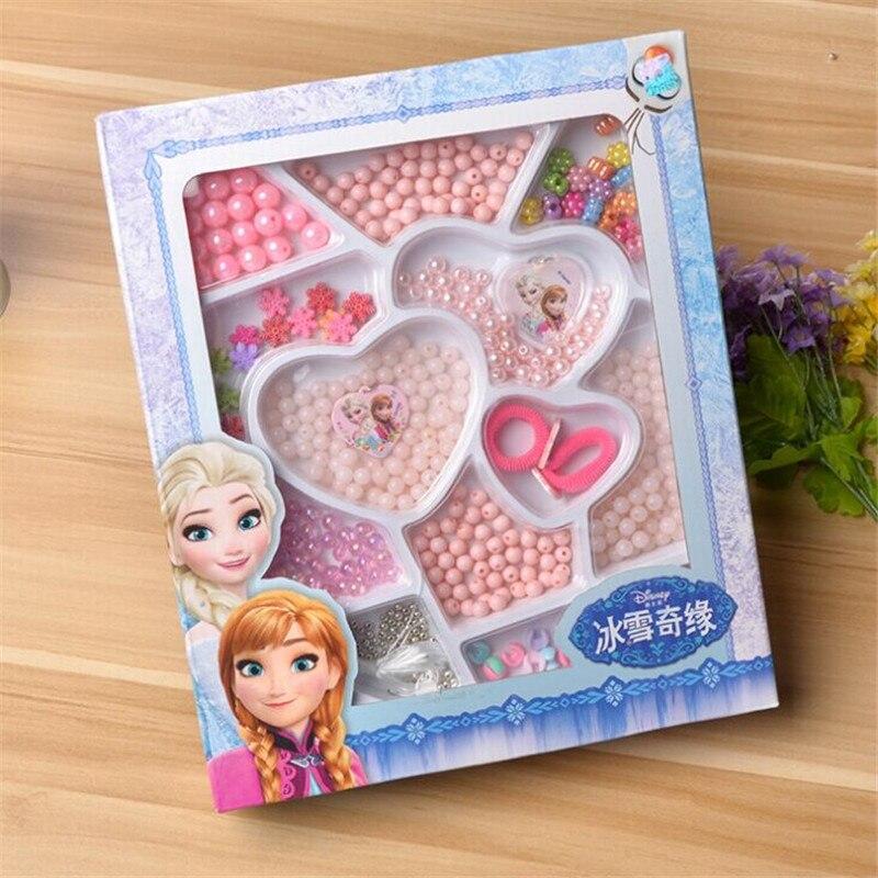 Elsa Anna DIY Bracelet Toys, DIY Handmade Jewelry String Bead Set Puzzle Toy, Educational Necklace Bracelet Kid Toy / Brinquedos<br><br>Aliexpress