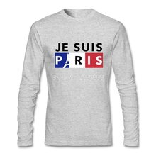 2017 New Men T-Shirt Je Suis Paris Summer Printed Tees Round Neck Long Sleeve Male t shirt 2XL(China)