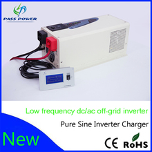 Price for LCD/LED display pure sine wave dc to ac 12V/24V/48V 3000w/3kw inverter with charger for factory hot sell