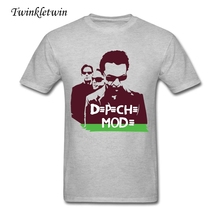Wholesale Fashion Brand T Shirt Depeche Mode Rock Tee Shirt Men Apparel Cotton Casual Men Short Sleeve Tee Rock Style Trend