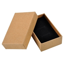 Gift Box Kraft Paper Tag Ear Ring Paper Ring Box Jewelry Display Jewelry Bags Ring Display Stand Wedding Decoration