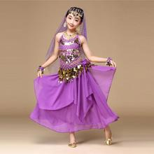 2017 New Trendy  Summer Baby Cute Girls Dance Dress Kids' Girls Belly Dance Outfit Costume India Dance Clothes Free Shipping