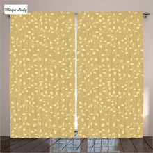 Turkey Textile Curtains Beige Home Decor Collection Floral Leaf Pattern Nature Motif Living Room Bed Curtains Turkey Textile Be