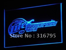 a017 Miller Lite Beer Bar Guitar LED Neon Light Signs Wholesale Dropshipping On/ Off Switch 7 colors DHL