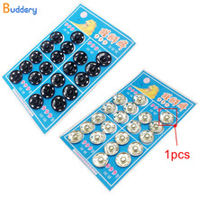 7mm-16mm Buttons Metal Snap Button Fasterner Stainless Steel Stud Black White Sewing Accessories Buttons scrapbooking