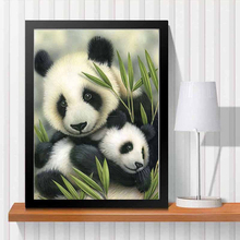 New panda love needlework Diy diamond painting kit 3D hand make decorative painting cross stitch plants embroidery beadwork LX