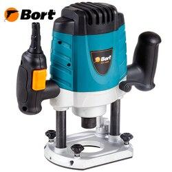 Фрезер электрический Bort BOF-1600N (Мощность 1500 Вт, фрезы на 8, 10, 12 мм, Скорость вращения от 12000 до 26000 об/мин, возможность подключения к пылесосу)
