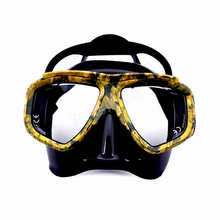 Myopic Optical Lens Snorkeling Gear Spearfishing Pro Disguise Camouflage Scuba Dive Mask Swim Goggles(China)