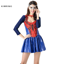 Kimring Spider Women Costume Sexy Costumes Suit Adult Women Fancy Dress Party Halloween Costume Spiderman Cosplay
