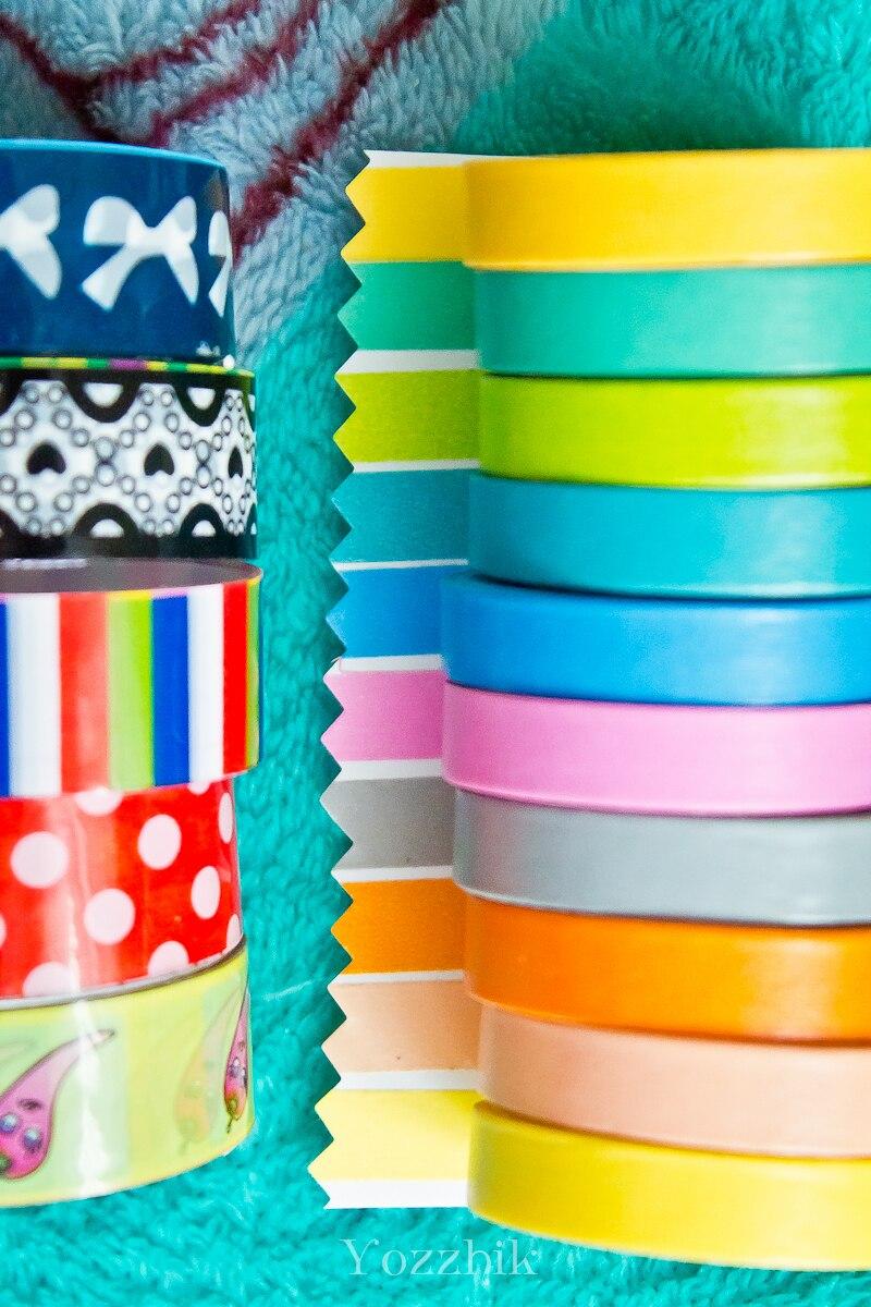Как сделать разноцветный скотч