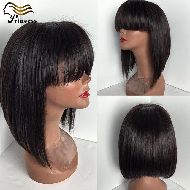 Short Bob Wigs Malaysian Full Lace Wigs With Baby Hair Short Lace Front Wigs Human Hair 7a Human Hair Wigs For African Americans<br><br>Aliexpress