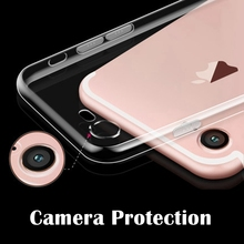 New Hot Ultra thin Full Camera Protection Soft Tpu Case Cover For iPhone 7 7 Plus with dustproof plug