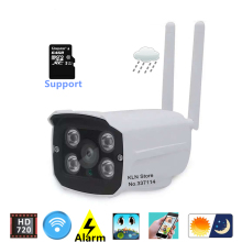 Ip Cctv Camera Wifi 720p HD MicroSD Card slot Night Vision Webcam Remotly View by PC Smartphone Android Ios for Home Security.(China)