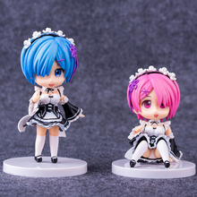 Re:Life in a different world from zero Rem & Ram Maid Cute Nendoroid Mini PVC Action Figure no box (Chinese Version)
