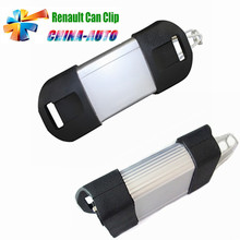 3pcs/lot DHL Free Diagnostic Interface Renault can clip Auto Scanner Newest V168 Version for Renault Support Multi-Languages(China)