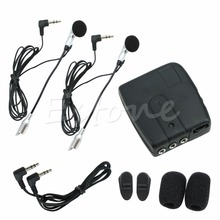 Motorbike Motorcycle Helmet 2-way Intercom Headset Communication System