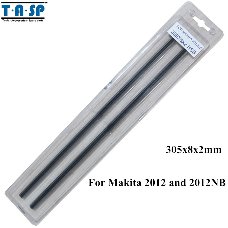 TASP 12 Thickness Planer Blade HSS Planer Knife 305x8x2mm for Makita 2012 and 2012NB<br>