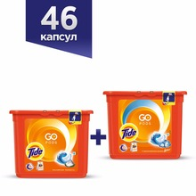 Washing Powder Capsules Tide Alpine Fresh Pods (23 Tablets) + Tide Touch of Lenor Fresh Pods (23 Tablets)