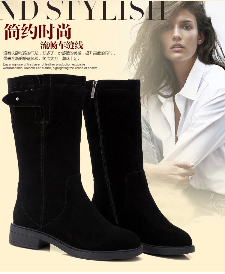 2016 new womens boots matte leather thick with the boots in the end of the Martin Boots special snow boots warm snow shoes <br><br>Aliexpress
